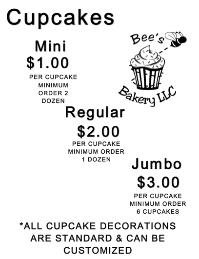Bee's Cupcakes